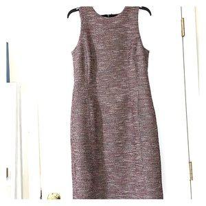 LOFT mid length dark pink sleeveless dress